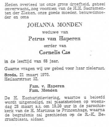 Monden-Johanna-Rouwadvertentie
