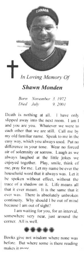 Monden-Shawn-Rouwadvertentie