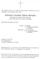 Monden-Antonius-Cornelis-Petrus-Rouwadvertentie