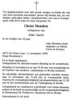 Monden-Christ-Rouwadvertentie