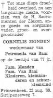 Monden-Cornelis-Rouwadvertentie