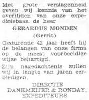 Monden-Gerardus-Rouwadvertentie