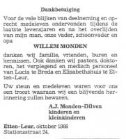 Monden-Wilhelmus-Dankbetuiging
