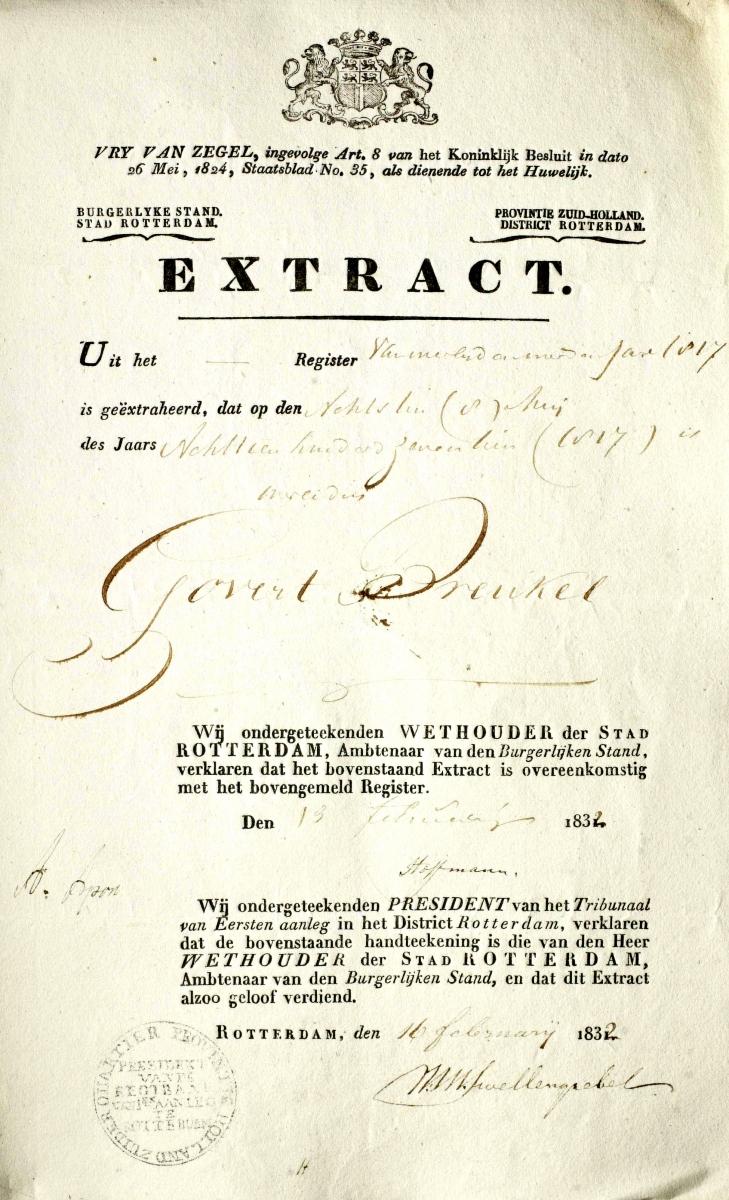 Breukel-Godefridus-Henricus-Extract-Overlijden-08-05-1817-Rotterdam