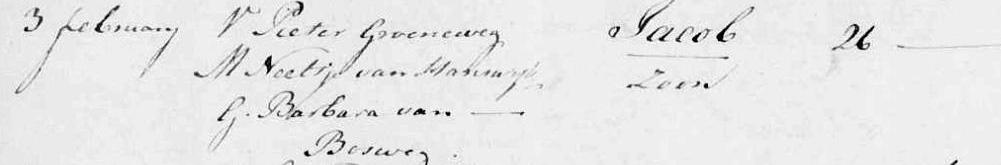 Groeneweg-Jacob-Geboorte-26-01-1793-Kralingen