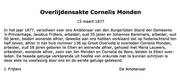 Monden-Cornelis-Overlijden-15-03-1877-Tekst