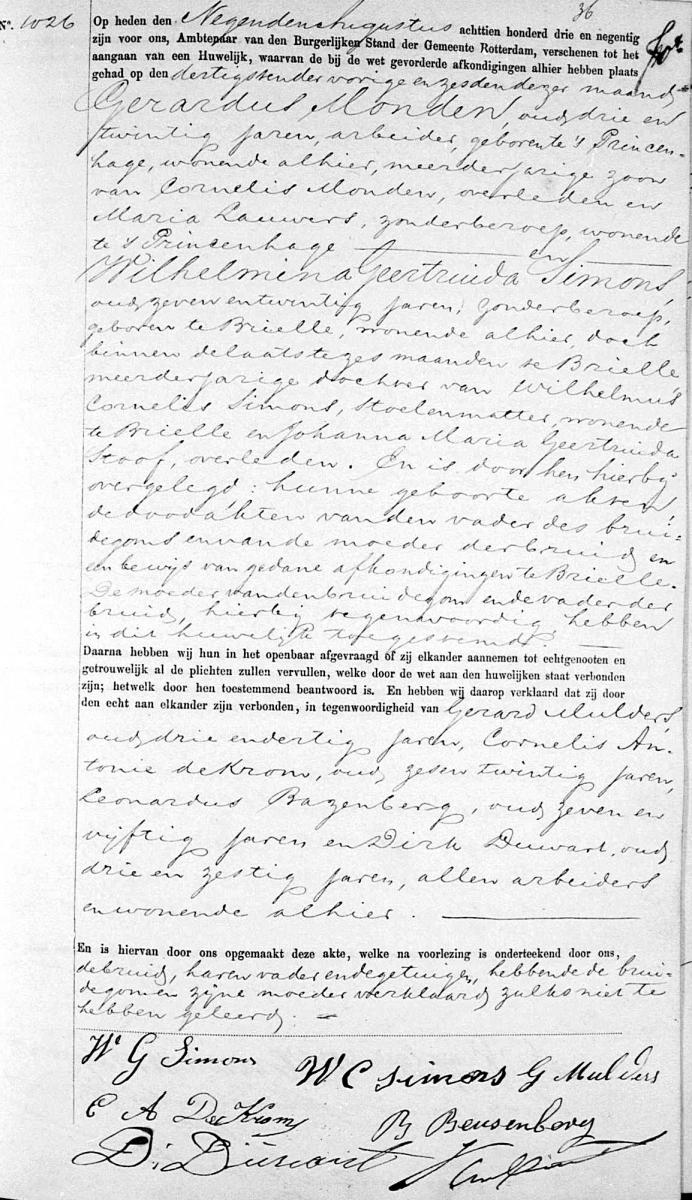 Monden-Gerardus-en-Simons-Wilhelmina-G.-Huwelijk-09-08-1893
