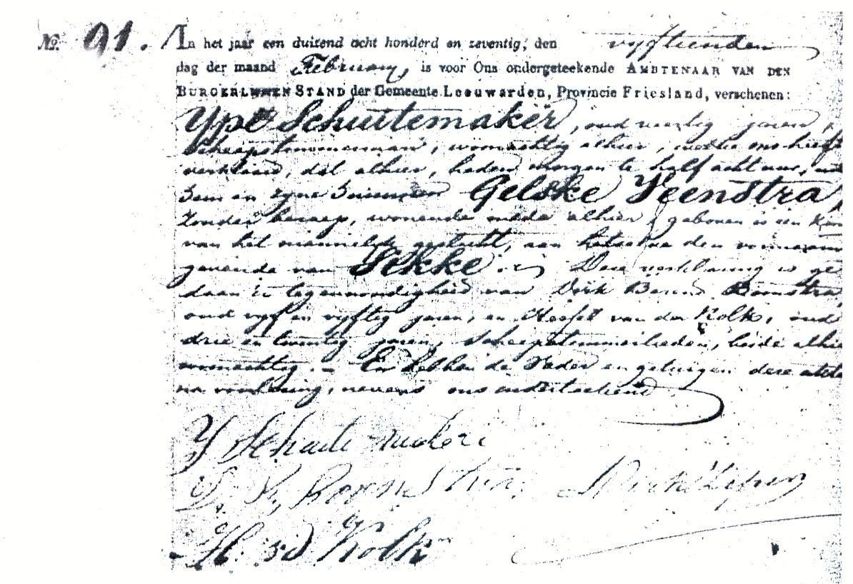 Schuitemaker-Sikke-Geboorteakte-15-02-1870