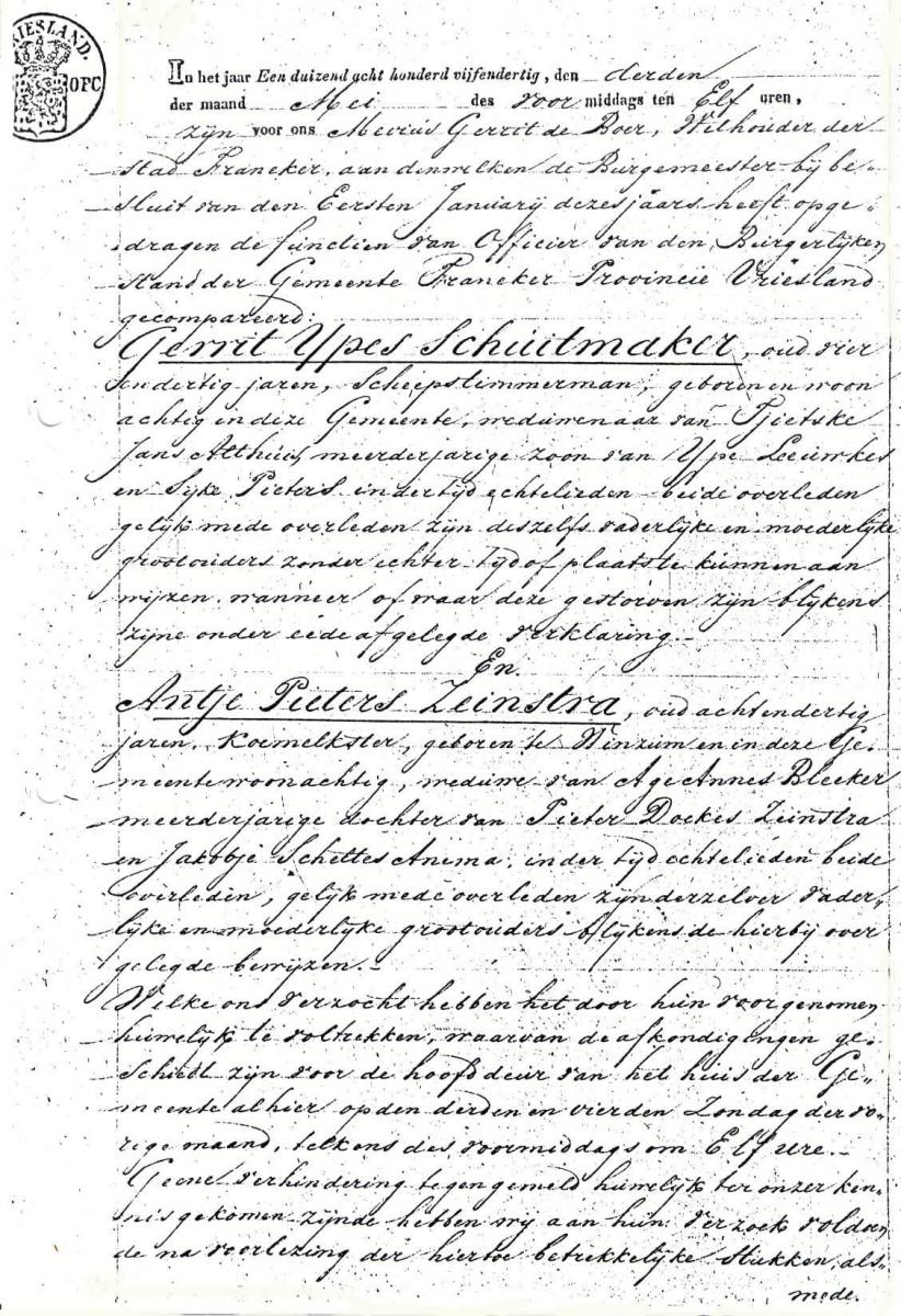 Schuitmaker-Gerrit-Ypes-en-Zeinstra.-Antje-P.-Huwelijksakte-03-05-1835-a
