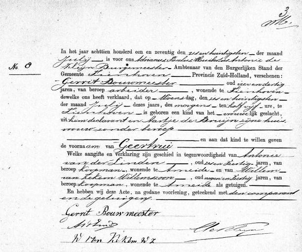 Bouwmeester-Geertrui-Geboorteakte-26-07-1871