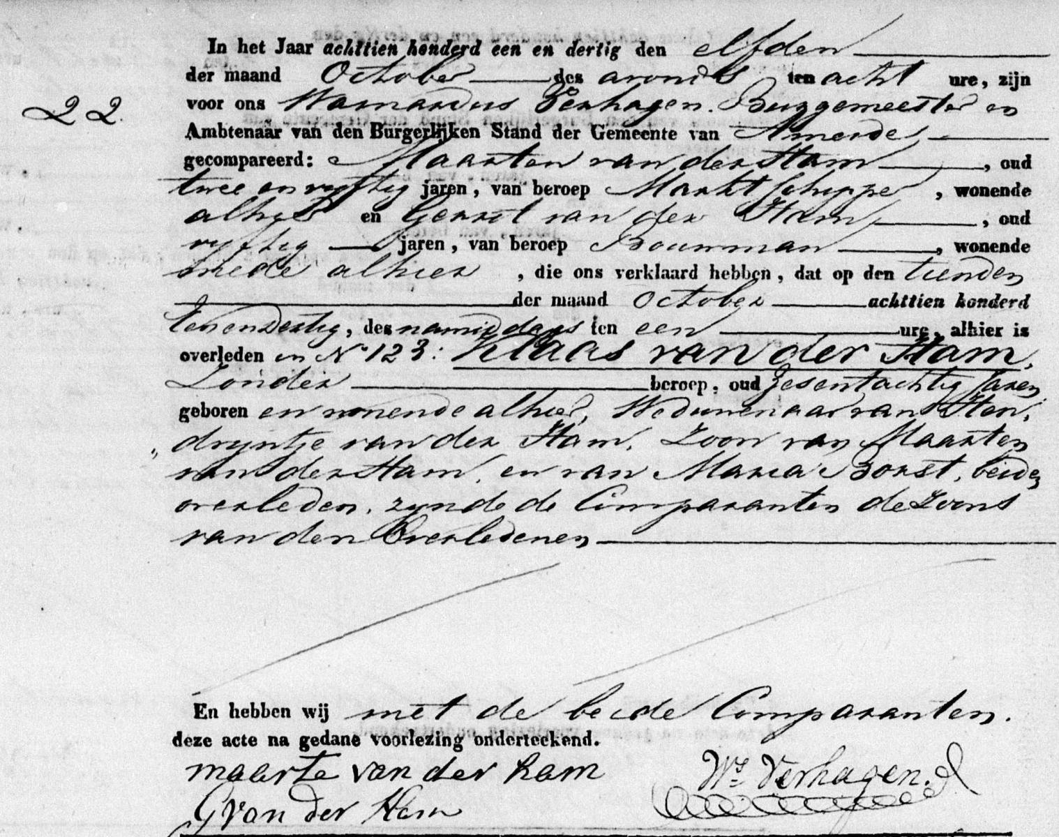 Ham-Claes-van-der-Overlijden-10-10-1831-Ameide