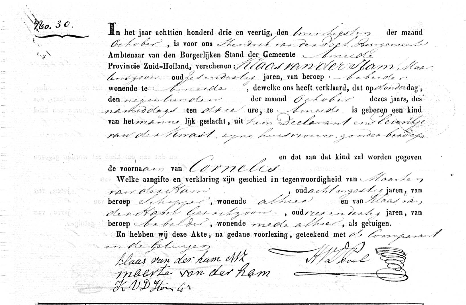 Ham-Cornelis-v.d.-Geboorteakte-19-10-1843