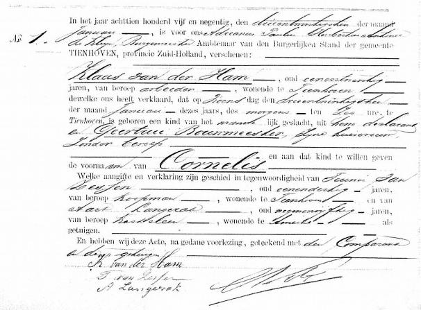 Ham-Cornelis-v.d.-Geboorteakte-23-01-1895