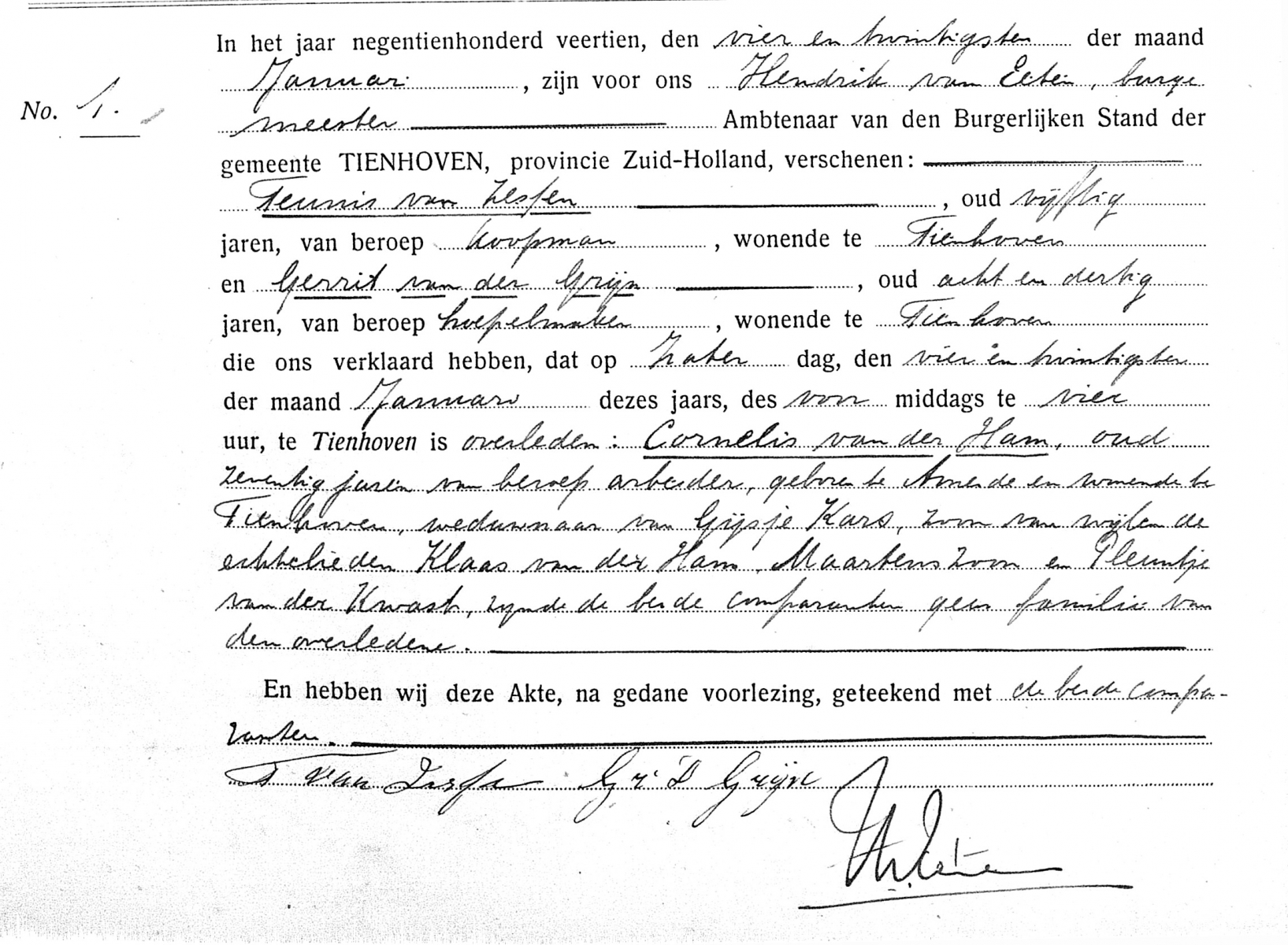 Ham-Cornelis-van-der-Overlijden-24-01-1914-Tienhoven