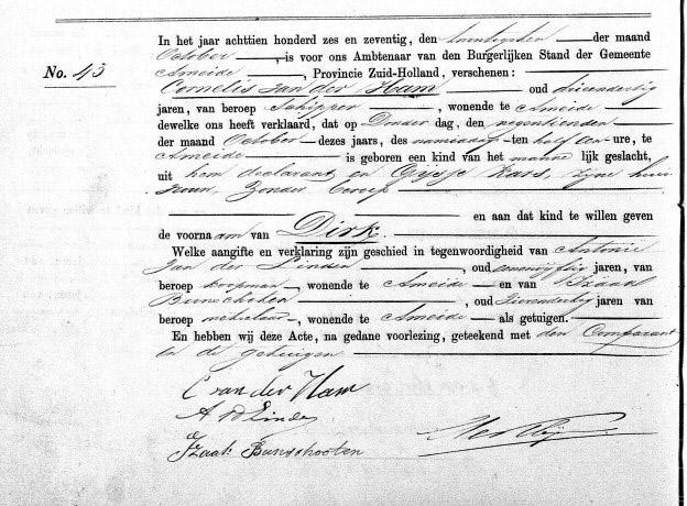 Ham-Dirk-v.d.-Geboorteakte-19-10-1876