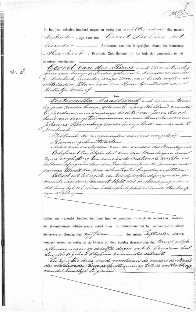 Ham-Gerrit-van-der-en-Maasland-Pieternella-Huwelijk-18-09-1869