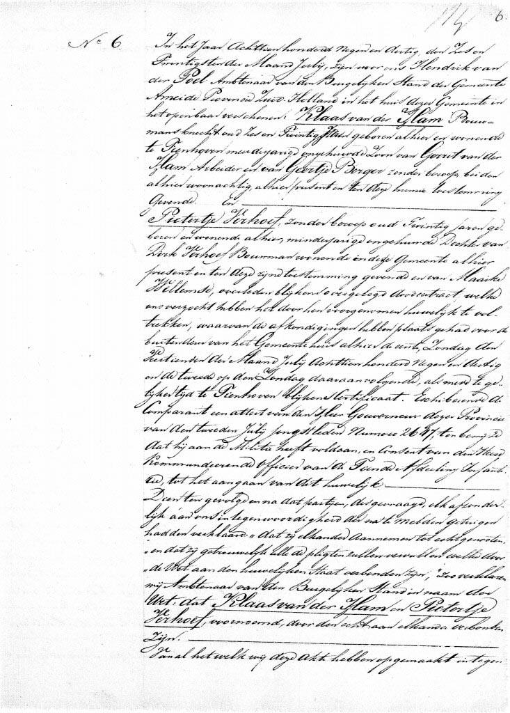 Ham-Klaas-v.d.-en-Verhoef-Pietertje-Huwelijksakte-26-07-1839