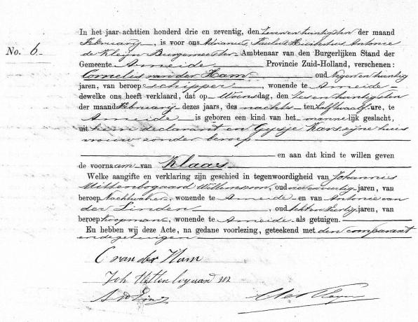 Ham-Klaas-van-der-Geboorteakte-26-02-1873