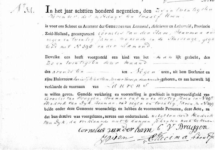 Ham-Laurens-vd-geb.-26-11-1819
