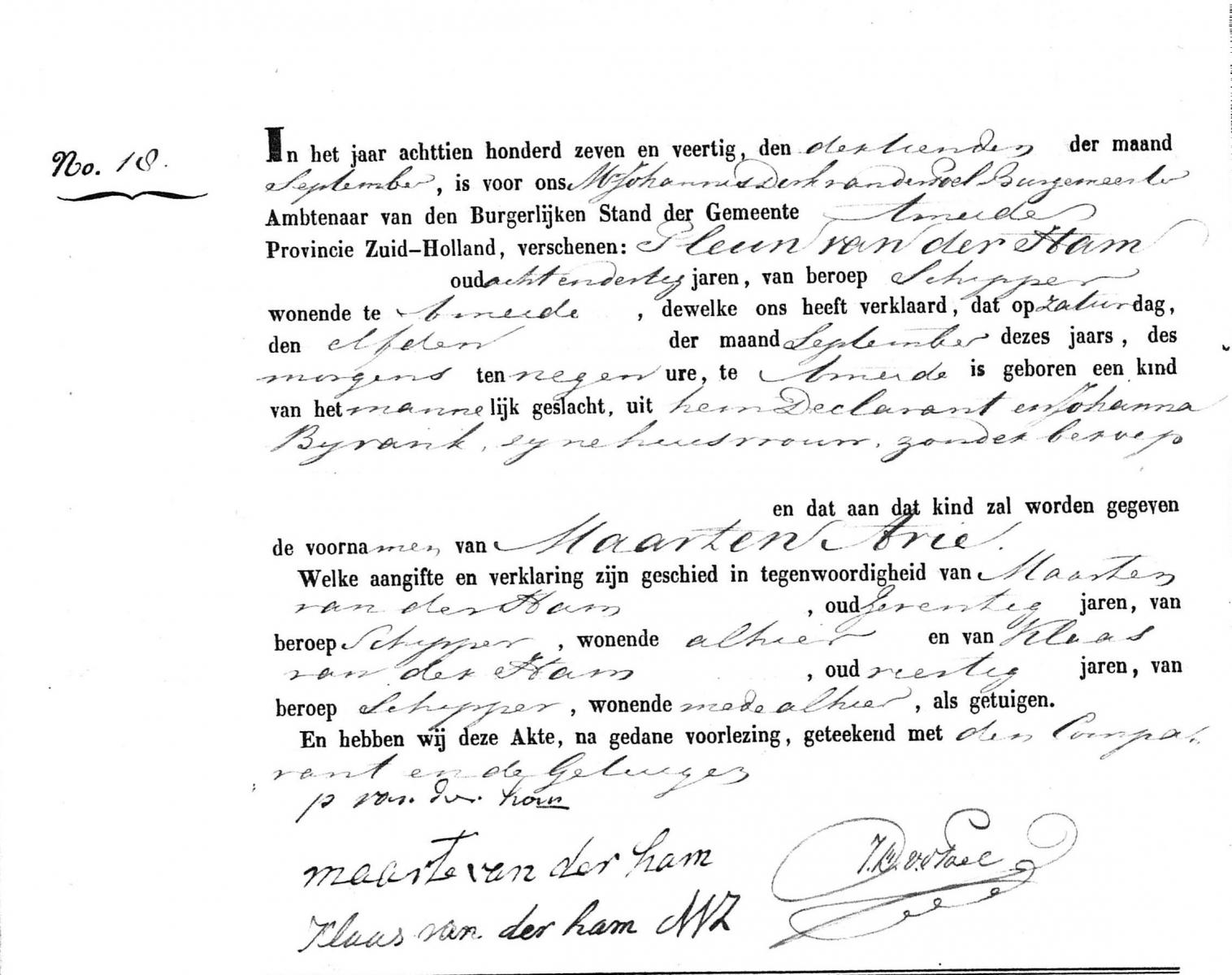 Ham-Maarten-Arie-van-der-Geboorte-11-09-1847-Ameide