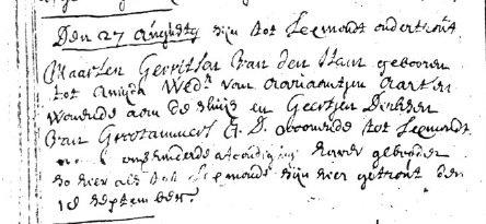 Ham-Maarten-Gerrits-vd-en-Geertjen-Derksen-van-Grootammers-Huw.-16-9-1692