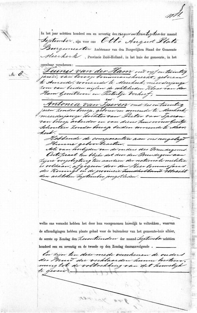 HamTeunis-v.d.-en-Antonia-van-Iperen-Huwelijksakte-1871