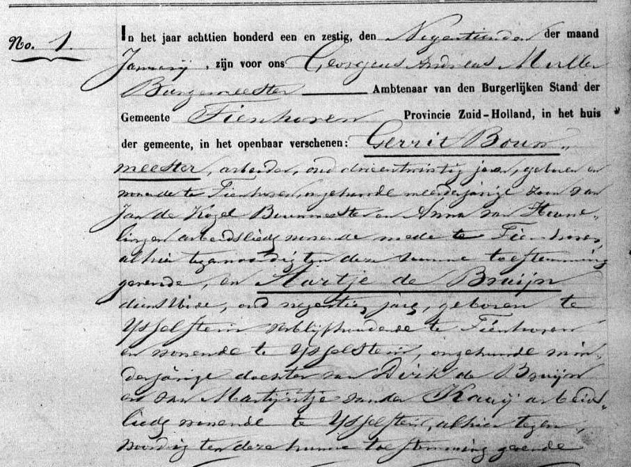 Kogel-Bouwmeester-Gerrit-de-en-Bruijn-Aartje-de-Huw.-19-01-1861-Tienhoven-a