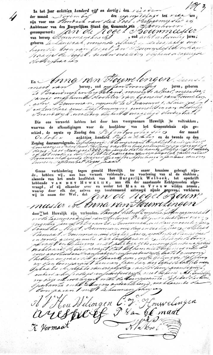 Kogel-Bouwmeester-Jan-de-en-Houwelingen-Anna-van-Huwelijksakte-04-11-1835