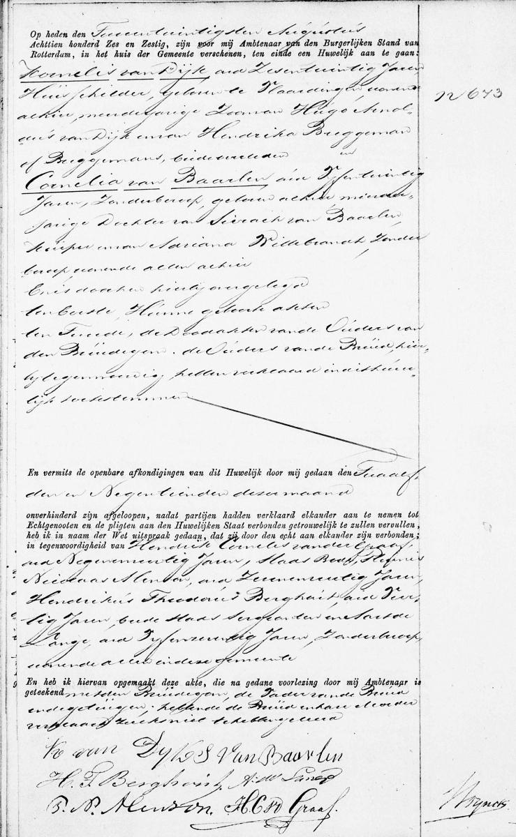 Dijk-Kornelis-van-en-Baarlen-Cornelia-van-Huwelijksakte-22-08-1866-Rotterdam