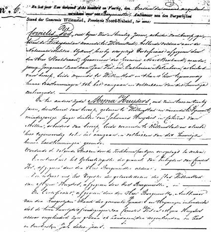 Vos-Cornelis-en-Huijsers-Mijna-Huwelijk-01-08-1840-Willemstad