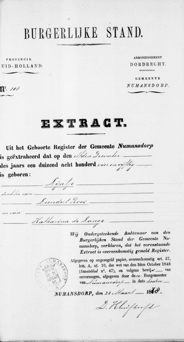 Vos-Nicolaas-en-Roos-Lijntje-Huwelijksbijlage-12-04-1878-Extract-geboorte-L.-Roos