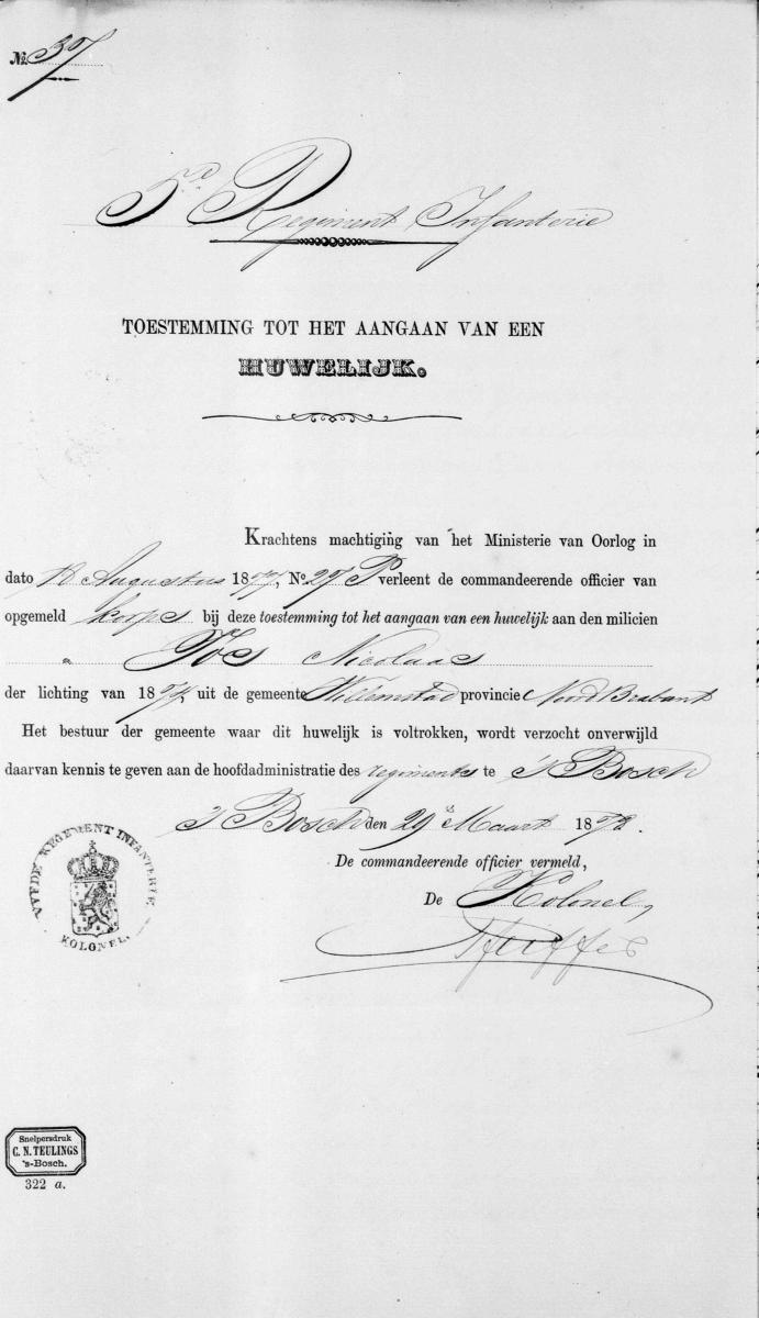 Vos-Nicolaas-en-Roos-Lijntje-Huwelijksbijlage-12-04-1878-Toestemming-Ministerie