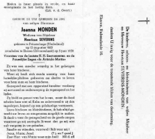 Monden-Joanna-Bidprentje