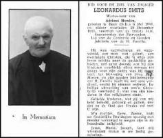 Smits-Leonardus-Bidprentje