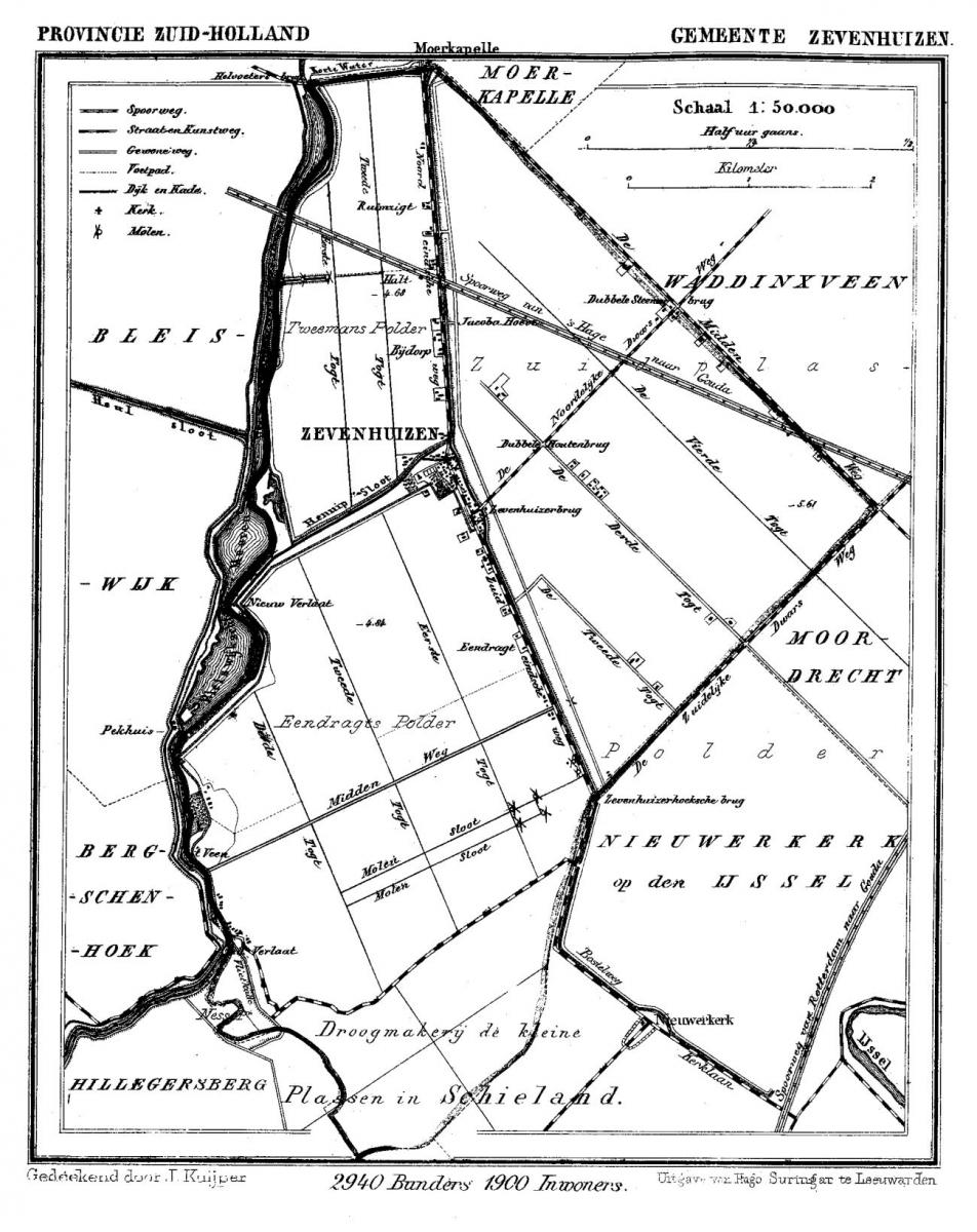 Kaart-Zevenhuizen-1865-1870
