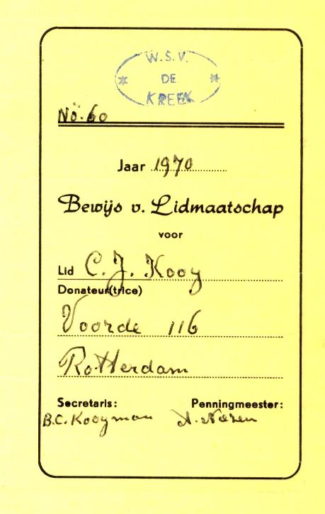 Kooij-Cornelis-J.-Lidmaatschap-WSV-De-Kreek