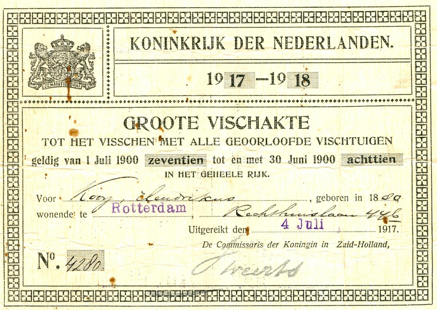 Kooij-Hendrikus-Visakte-1917