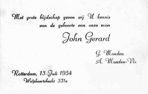 Monden-John-Gerard-13-07-1954-Geboortekaartje