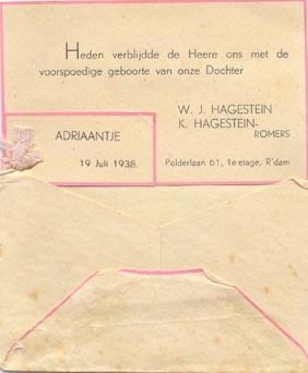 Groeneweg-Hagestein-Sjanie-Geboortekaartje-19-07-1938