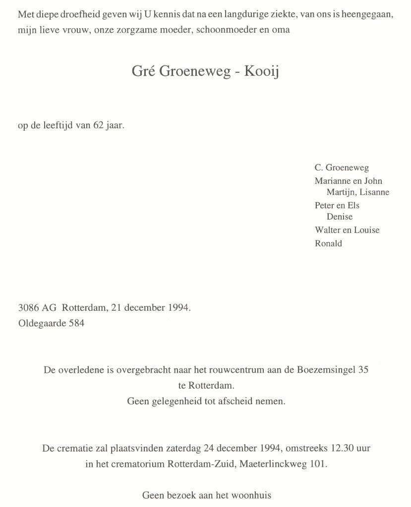 Groeneweg-Kooij-Geertrui-Overlijdenskaart-21-12-1994