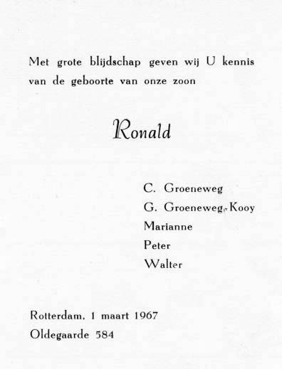 Groeneweg-Ronald-Geboortekaartje-01-03-1967
