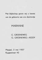 Groeneweg-Marianne-Geboortekaartje-02-05-1957
