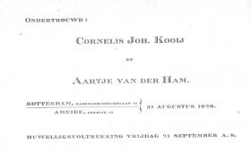 Kooij-Cornelis-J.-en-Ham-Aartje-v.d.-Ondertrouw-31-8-1928