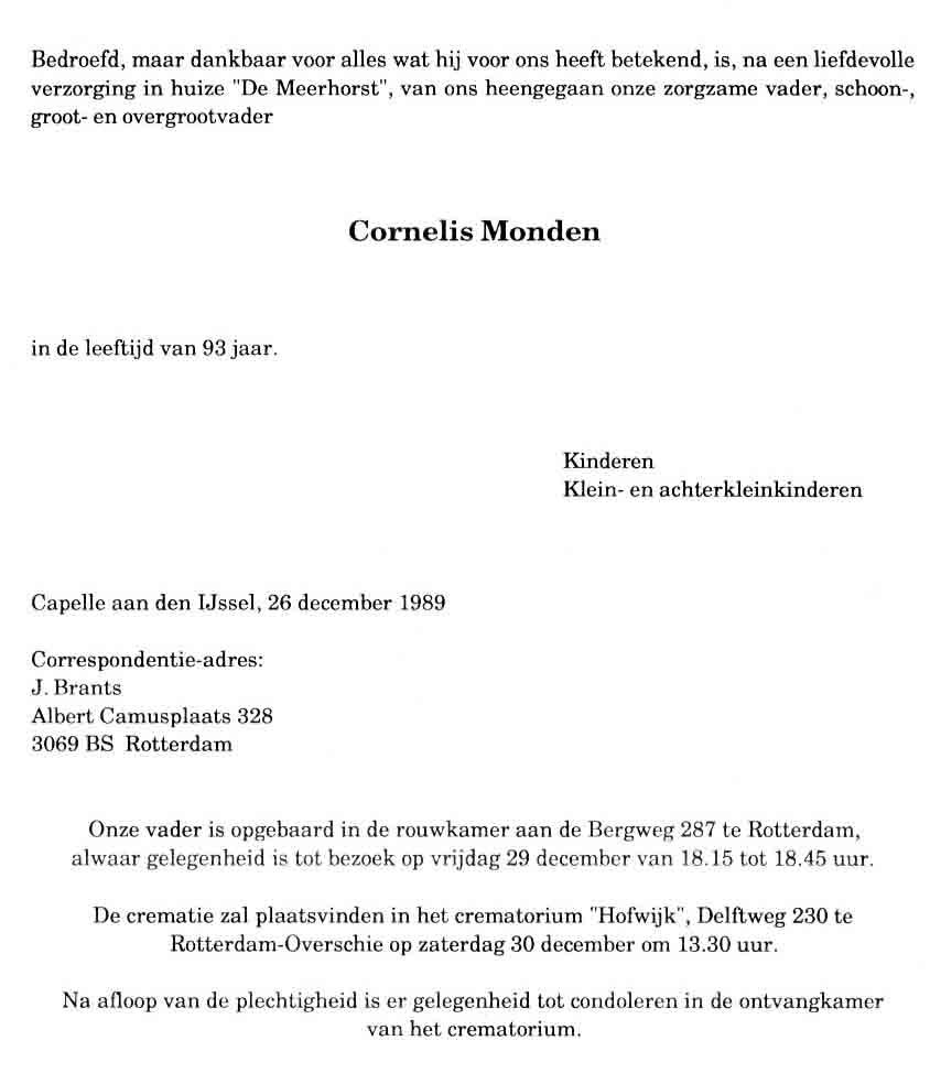 Monden-Cornelis-Rouwkaart-26-12-1989
