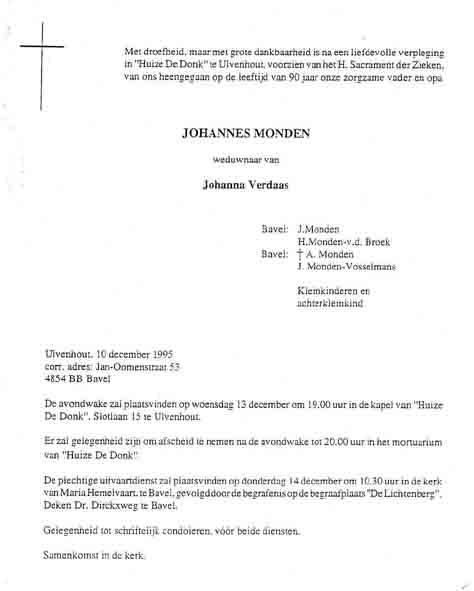 Monden-Johannes-Rouwkaart