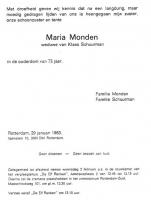 Monden-Schuurman-Maria-Rouwkaart