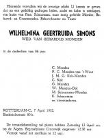 Monden-Simons-Wilhemina-Geertruida-Rouwkaart-07-04-1952-
